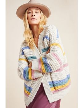Candy Striped Cardigan by Anthropologie
