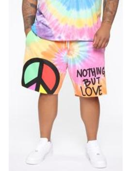 All Love Tie Dye Shorts   Multi Color by Fashion Nova