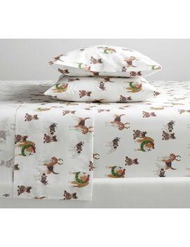 Festive Dog Organic Cotton Sheet Set by Pottery Barn