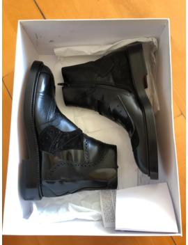 Maison Margiela Black Patchwork Chelsea Boots by Maison Margiela  ×