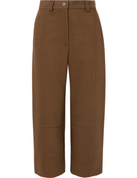 Cropped Twill Wide Leg Pants by See By Chloé