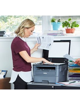 Hl L2390 Dw Wireless Black And White All In One Printer   Gray by Brother
