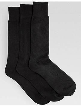 Pronto Uomo Black Socks, Three Pack by Pronto Uomo