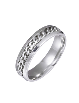6mm Simple Chain Ring Classic Style Punk Style Men's Ring Small Jewelry Man Rings Stainless Steel Ring by Ali Express.Com