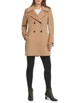 Wool And Cashmere Blend Trench Coat by Dkny