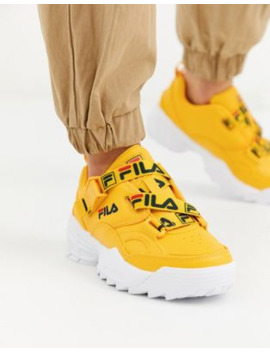Fila Fast Charge Trainer With Logo Straps In Yellow by Fila