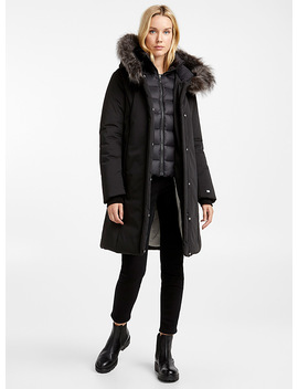 black-flerida-quilted-collar-parka by soia-&-kyo