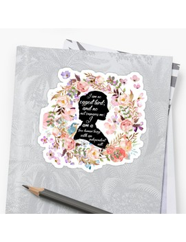 Jane Eyre Quote Sticker by Giant Squid1