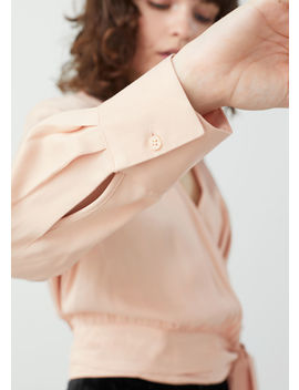 Scarf Tie Wrap Blouse by & Other Stories