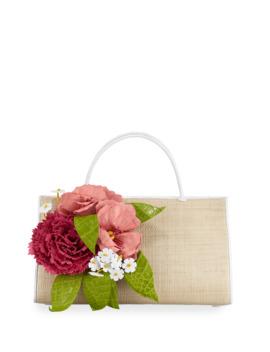 Wallis Floral Crocodile Top Handle Bag by Nancy Gonzalez
