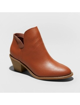 Women's Indie Faux Leather Heeled Bootie   Universal Thread™ by Universal Thread
