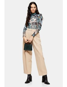 Stone Elastic Back Trousers by Topshop