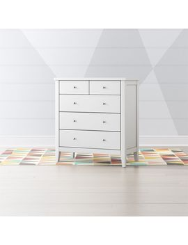 Kids Midway White 5 Drawer Dresser by Crate&Barrel
