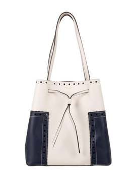 Block T Bucket Bag by Tory Burch