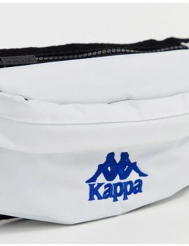 Kappa 222 Banda Anais Bum Bag With Logo Strap In White by Kappa