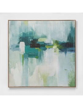 """33""""X33"""" Abstract Brush Strokes Framed Wall Poster Print   Project 62™ by Shop Collections"""