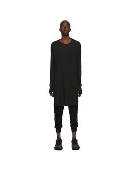 Black Dyed Long Sleeve T Shirt by Boris Bidjan Saberi
