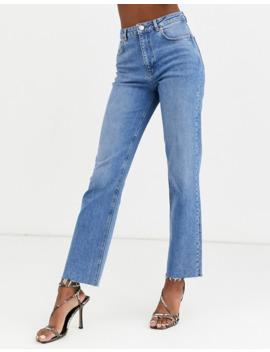 Asos Design Tall   Jean évasé Décontracté à Taille Haute   Délavage Moyen Vintage by Asos Design