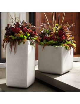 Square Planters by Crate&Barrel