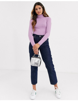 Miss Selfridge Sweater With Roll Neck In Lilac by Miss Selfridge