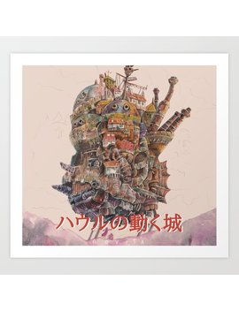 Howl Moving Castle Art Print by Society6