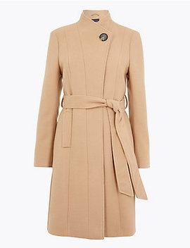 Petite Belted Wrap Coat by Standard Tracked Delivery