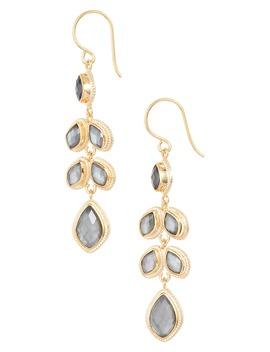 Quartz Kite Chandelier Earrings by Anna Beck