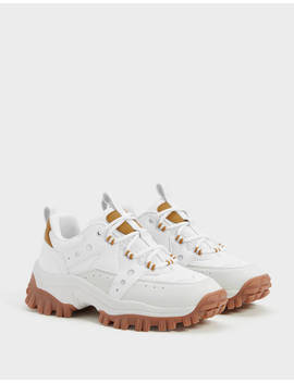 Xl Sole Hiking Trainers by Bershka