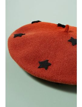 Star Wool Beret by Helene Berman