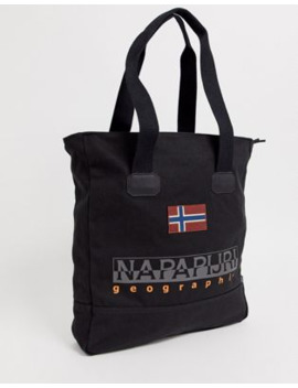 Napapijri Sporta Tote Bag In Black by Napapijri