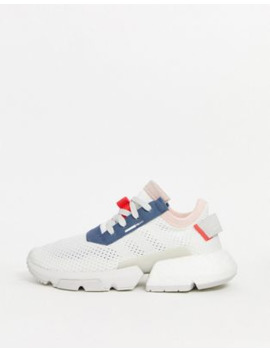 Adidas Originals Pod Trainer In White And Blue by Adidas