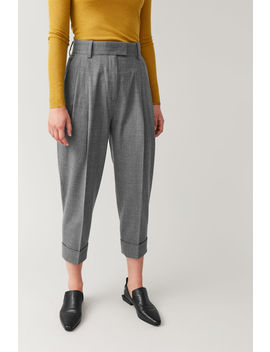 Dropped Crotch Wool Pants by Cos