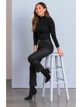 X Marianna Hewitt Instasculpt Bridget Coated High Waist Fray Crop Bootcut Jeans by Dl1961