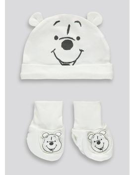 Unisex Winnie The Pooh Hat And Bootie Set (Newborn 3mths) by Matalan
