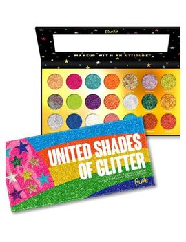 Rude Cosmetics United Shades Of Glitter 21 Pressed Glitter Palette by Rude Cosmetics