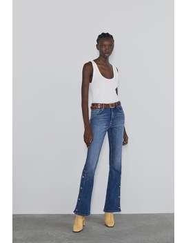 Flared Button Up Z1975 Jeans by Zara