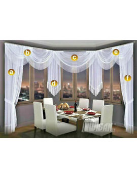Choice Of Swags &Amp; Tails   Net Sheer Curtain Swag Pelmet Valance Tassels Fringe by Ebay Seller