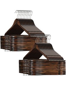 Tristian High Grade Wooden Non Slip Hanger by Rebrilliant