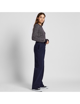 Cotton Twill Wide Pants by Uniqlo