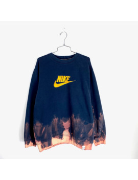 Vintage Nike Crewneck Size Xl Spellout Dyed Custom Mens by Nike  ×  Vintage  ×  Japanese Brand  ×