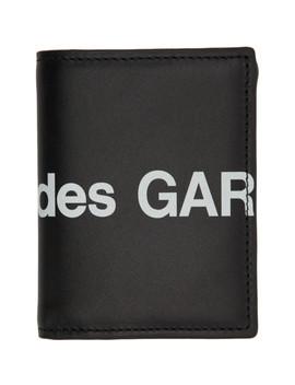 Black Huge Logo Bifold Card Holder by Comme Des GarÇons Wallets