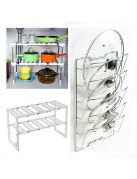 <Span><Span>Kitchen Pan Pot Saucepan Lids Storage Rack Holder Cupboard Wall Door Organiser</Span></Span> by Ebay Seller