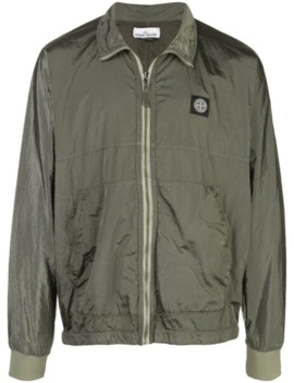 Water Resistant Logo Patch Jacket by Stone Island