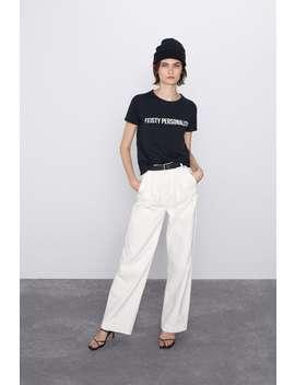 Front Print T Shirt by Zara