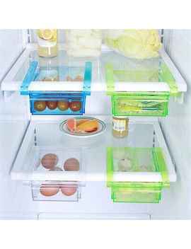<Span><Span>Plastic Kitchen Freezer Fridge Drawer Storage Rack Holder Slide Shelf Organizer</Span></Span> by Ebay Seller