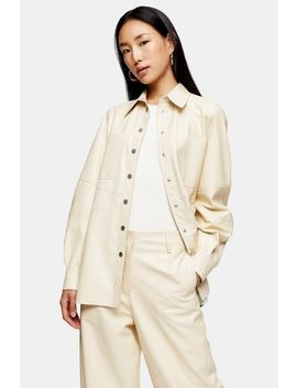 **Buttermilk Leather Shirt By Topshop Boutique by Topshop