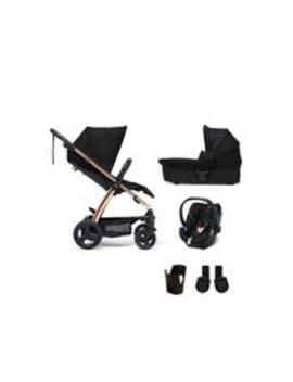 Sola2 Rose Gold 5 Piece Bundle (Pushchair, Carry Cot, Car Seat, Adaptor And Cupholder) by Mamas & Papas