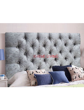"<Span><Span>Headboard Chesterfield Crushed Velvet 20"" Bed Head   Small Double King Superking</Span></Span> by Ebay Seller"