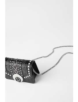 Animal Print Moon Crossbody Bag by Zara