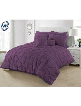 <Span><Span>Pintuck Duvet Set 100% Cotton Quilt Cover Single Double Super King Size Bedding</Span></Span> by Ebay Seller